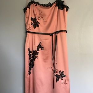 Papell Boutique dusty pink evening dress